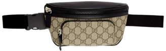Gucci Black and Beige GG Belt Bag