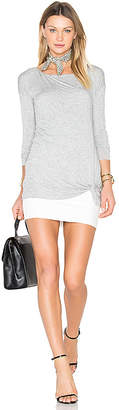Bailey 44 Double Dowline Dress in Gray $158 thestylecure.com