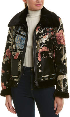Bagatelle Tapestry Print Aviator Jacket