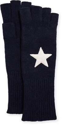 Portolano Cashmere Star Jersey Fingerlss Gloves