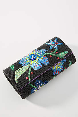 Anthropologie Late Nights Floral Clutch
