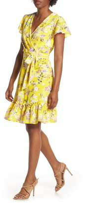 Julia Jordan Floral Wrap Dress