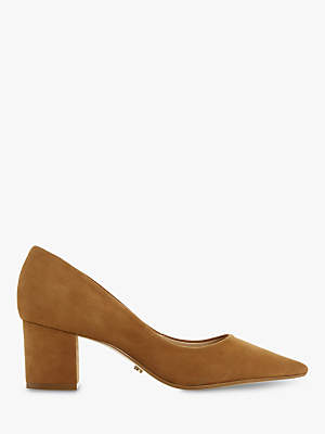 Dune Arvemarie Block Heel Pointed Court Shoes