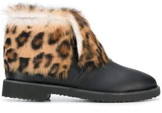 Giuseppe Zanotti Design leopard ankle boots