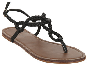 Wet Seal WetSeal Braided Horseshoe Sandal Turq