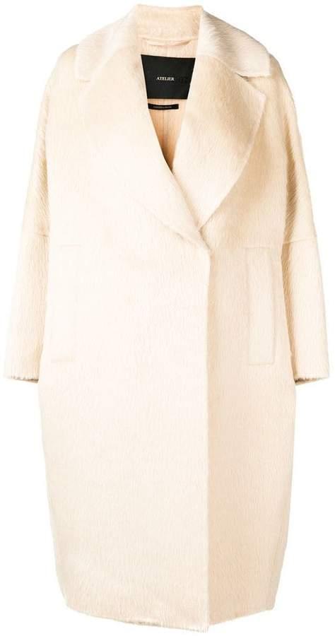 wrap style oversized coat