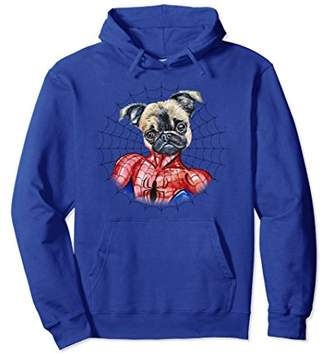 Amazing Spider Pug Long Sleeve Pullover Hoodie