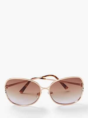 5a4e212deb John Lewis   Partners Women s Oversized Square Metal Sunglasses