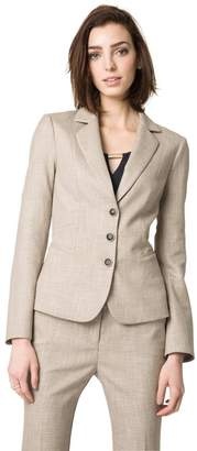 Le Château Women's Notch Collar Stretch Blazer,M