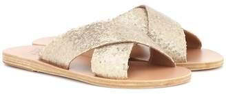 Ancient Greek Sandals Thais sequined leather slides