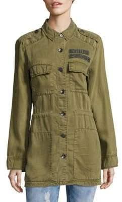True Religion Long Sleeve Military Jacket