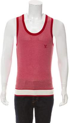 Louis Vuitton Silk-Blend Striped Tank Top