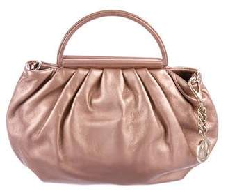 Giorgio Armani Metallic Leather Handle Bag