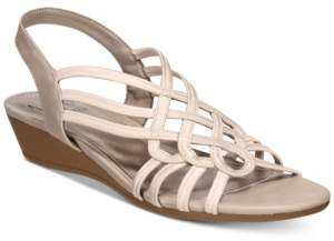 bbc305c22270 Impo Roma Stretch Slingback Wedge Sandals Women s Shoes