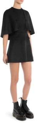 Sara Battaglia Removable Cape Mini Sheath Dress