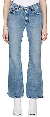Maison Margiela Women's Side-Slit Crop Jeans - Blue