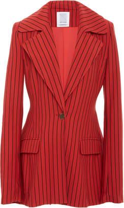 Rosie Assoulin Blaze Your Saddles Pinstriped Stretch Wool-Twill Blazer