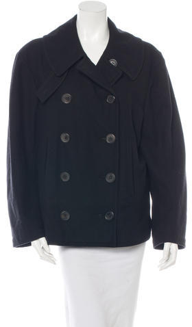 Balenciaga  Balenciaga Long Sleeve Wool Coat