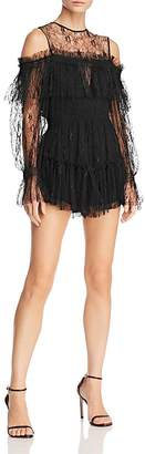 Alice McCall In a Million Cold-Shoulder Lace Romper