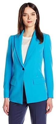 Anne Klein Women's Peak Lapel Crepe Jacket