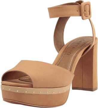 Carrano Cira Nubuck Leather Platform Sandals, Chamois
