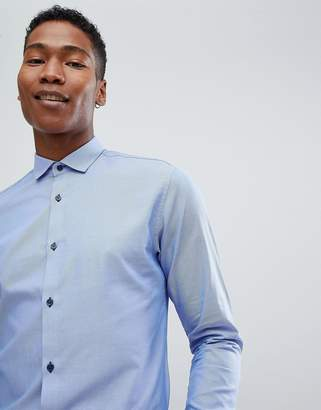 Jack and Jones Smart Shirt In Slim Fit With Contrast Buttons