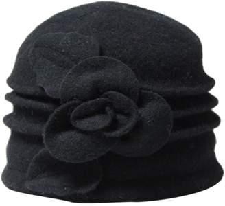 0c530d14b93 Cloche Ealafee Lady Retro Wool Blend Caps Fuschia Beach Hat Winter Wool  Fedora