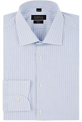 Barneys New York Men's Striped Cotton Poplin Shirt