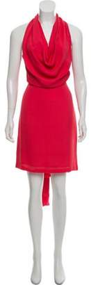 Gucci Silk Tie-Accented Dress Pink Silk Tie-Accented Dress