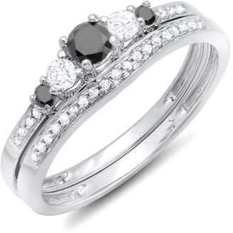 JeenJewels 0.75 Carat Diamond Bridal Sets Round Cut Diamond on 18K White gold