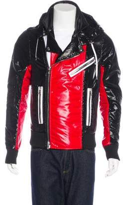 Balmain Hooded Moto Jacket