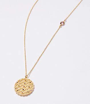 LOFT Crystal Filigree Pendant Necklace