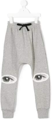 Nununu eye print track pants