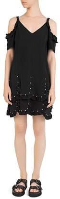 The Kooples Cold-Shoulder Crepe Dress