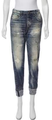 Rag & Bone Distressed Denim Printed Sweatpants