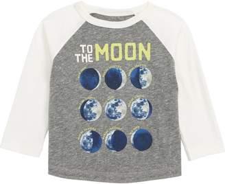 Peek Essentials Peek Moon and Back Glow in the Dark Raglan T-Shirt