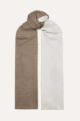 Majestic Filatures Danae Two-tone Cotton And Cashmere-blend Scarf - Green