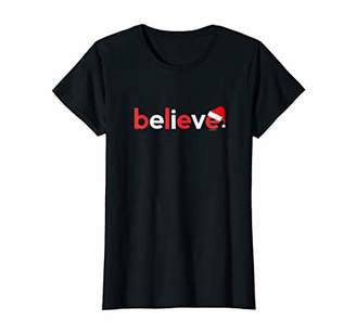 Womens Christmas Shirts for Women Her | Believe Gift Ideas Xmas Tee