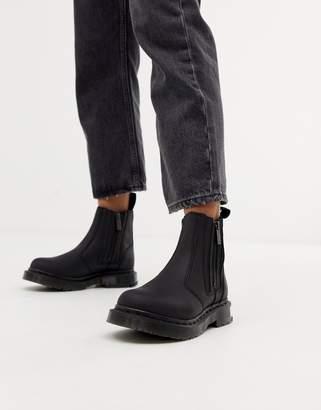 Dr. Martens 2976 Alyson Black Leather Snowgrip Flat Chelsea Boots