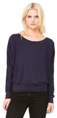 Clementine Apparel Women's Flowy Long-Sleeve Off Shoulder T-Shirt