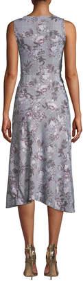 Rachel Roy Giles Plaid & Floral A-Line Dress