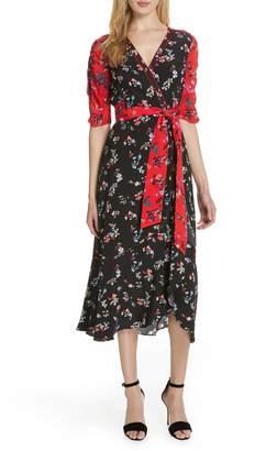 Tanya Taylor Blare Floral Clusters Silk Dress