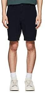 Barneys New York MEN'S COTTON TWILL SHORTS-DK. BLUE SIZE 28