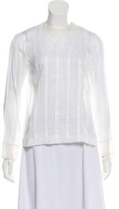Marc Jacobs Striped Sheer Top