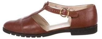 Salvatore Ferragamo Leather Cutout Loafers