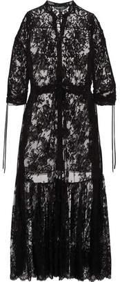 Alexander McQueen Sarabande Tiered Cotton-blend Lace Tunic - Black