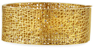 Yossi Harari 18k Medium Lace Cuff w/ Diamonds
