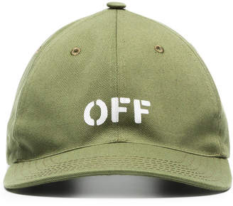 Off-White x Browns Green Embroidered Logo Cap