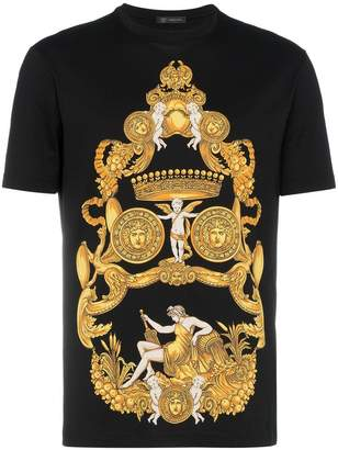 Versace Medusa print cotton short sleeve t shirt