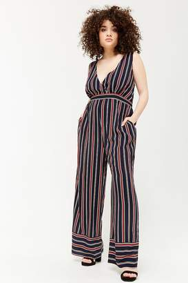 Forever 21 Plus Size Striped Surplice Jumpsuit